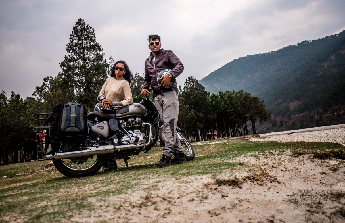 We did cross-country biking to Bhutan and how?