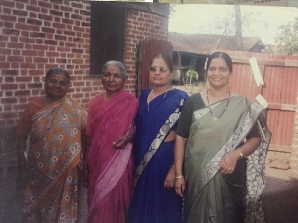 Mom with ajji