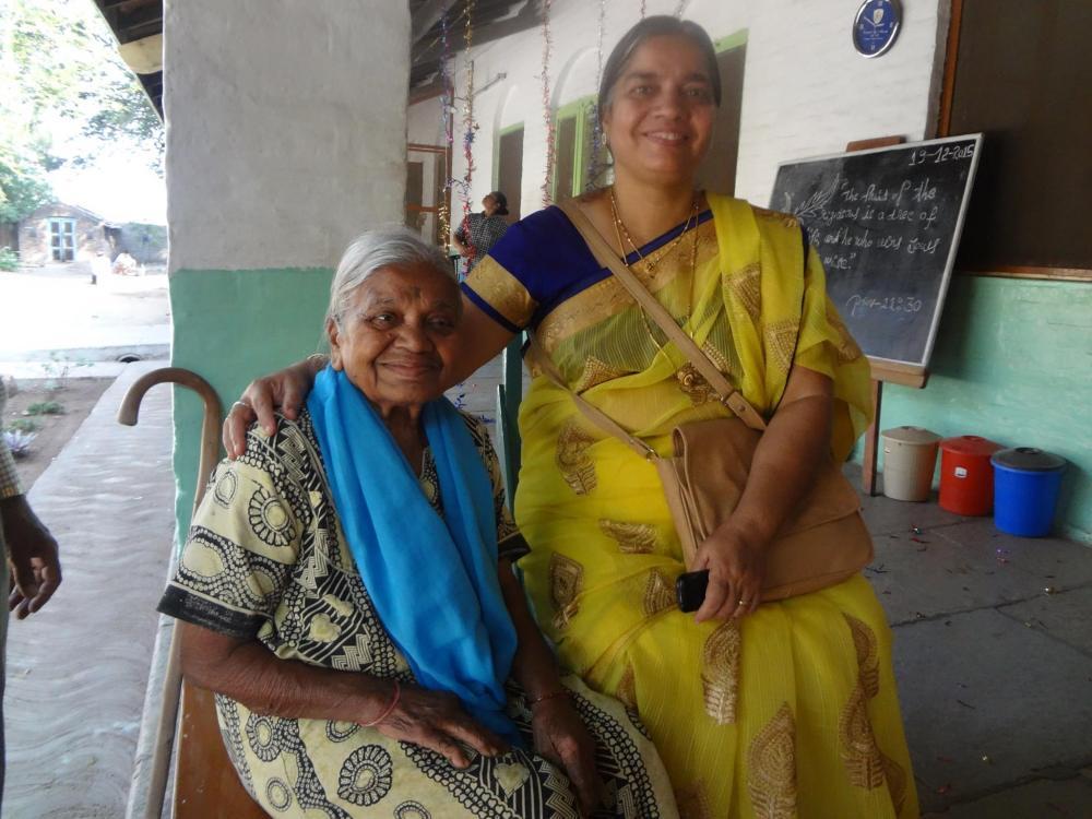 Usha Mausi with Mukta Ajji